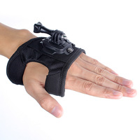 Size L 360-degree Rotation Glove-style Mount for GoPro Hero 3+/3/2/1 W/ Screw Gopro Accessories Glove Style Mount Free Shipping