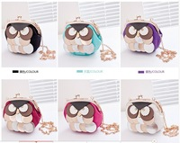 The new 2014 mini sequins owl female bag chain shoulder bag