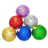 Hot Fashion 1 Packet Mixed Christmas Tree Ball Ornaments Decoration Snowball 6.8x5.7cm