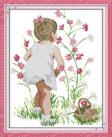 The Fragrance of Flowers Pattern Counted Cross Stitch 11CT 14CT DMC Cross Stitch DIY Cross Stitch Kit for Embroidery Needlework