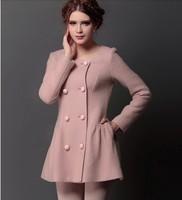 2014 Women's new Autumn coat Korean women wool coat woolen coat thick woolen coat NDX119  Y9W