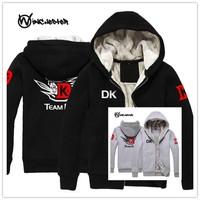 New dota 2 DK teams autumn winter thicken man hoody cosplay anime game boy men hoodie sweatshirts DOTA2 DK fleece