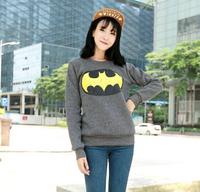 [Alice] free shipping 2014 Autumn and winter new style women cotton hoodies batman fleece warm sweatshirts 6color 719B