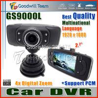 Top Full HD GS9000L Car DVR Video Registrator GS9000L Car Black Box 140 Degree Lens 2.7 Inch LCD Display G-Sensor Digital Zoom