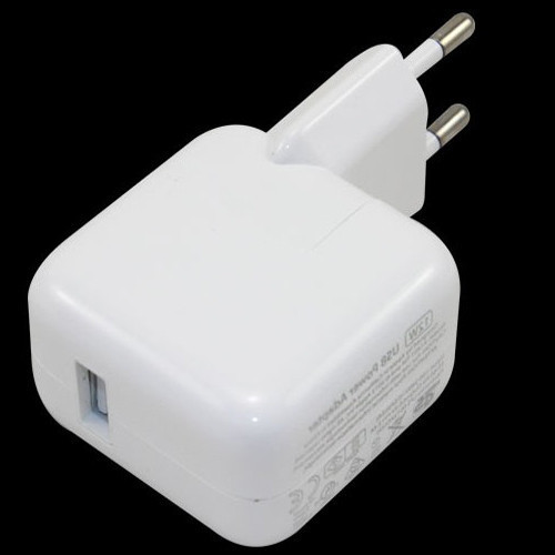 EU 12W White USB Power Adapter & Wall Charger Replacement for iPhone 4 5 6 Apple iPad 1pcs/lot