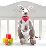 40cm plush kangaroo Australia kangaroo plush toy plush doll birthday gift valentine gift cute toy one piece free shipping