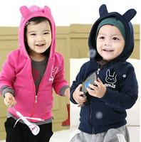Size90~130 New spring autumn children fleece outerwear kids clothing child coats baby hooded jackets boys girls hoodies hbxbk