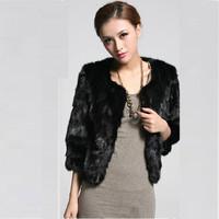 2014 winter Woman fashion clothes new fox hair  fur overcoat
