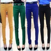 2014 new Autumn feet pencil pants Korean Slim thin tight women's casual trousers