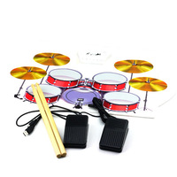 Free shipping High Quality Portable 9 Pad MD1008 Portable USB MIDI DRUM KIT Electronic Drum