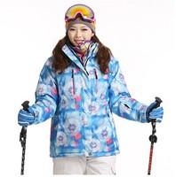 New 2014  Brand Woman Ski Suit Jackets Winter Sports Dress Skiing Snowboarding Jacket Waterproof ski Jacket