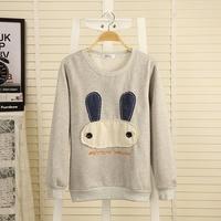 Drop shipping,2014 Brand new women carton animal warm hoody ,ladeis autum hoodies,pullovers women's tops jackets,female outwear