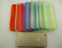 10000pcs/lot  Clear Gel Gummy  Transparent Soft TPU Back Cover Case Colored For iPhone 6