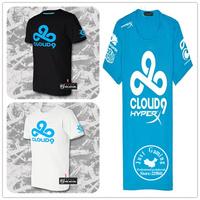 DOTA2 mens t shirts fashion cloud9 DOTA2 cotton brand summer men students T shirts game cloud9 Team Dota 2 tee