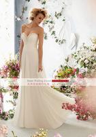 strapless wedding dress backless and sleeveless bride wedding floor-length dress free shipping