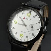 Fashion Casual Men CURREN Brand Wristwatches Japan Movement Quartz Watches Gentleman Big Dail With Calendar Colck Hours 8116