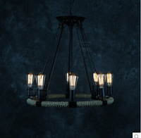 Promotional industrial look pendant lights vintage pipe lamps 220v E27*8pcs pendant lamps with edison bulbs