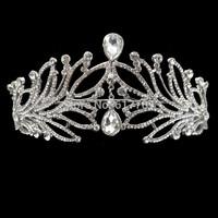 European Style Skeleton Crystal Tiara Crown Wedding Hair Accessories Wedding Accessories Christmas Gift for Bride HG123