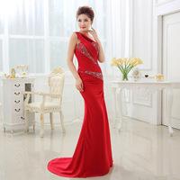 sweep wedding dress Yellow  red  purple blue backless dress women bride free shipping floor-length