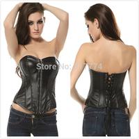Hot Plus Size   Sleepwear Sexy Women Lace Tops Steel Bustier Lingerie Overbust Corset Dresses (S,M,L,XL)2540
