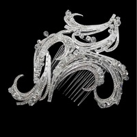 Free Shipping Luxurious Handmade Geometry Crystal Bridal Combs Hairpin Wedding Hair Accessories FS078