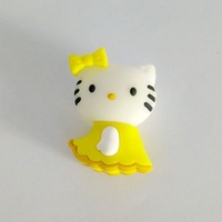 Fast ship 4gb 8gb 16gb 32gb cartoon yellow Cat Hellokitty in skirt USB 2.0 flash drive memory pen disk Drop ship dropshipping