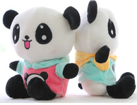 Plush pendant wholesale 2pcs 20cm cartoon fashion coat panda wedding little cupula doll children prize girl gift stuffed toy