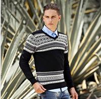2014 Autumn Korean New Design Men's O-Neck Sweater 100% Cotton Deer Sweater Casual Men Pullovers Deer Sweater