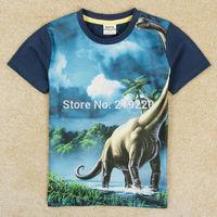 New retails Jurassic Period dinosaur boys t shirt NOVA children kids baby boys t shirts for 4-10Years old cotton summer shirts