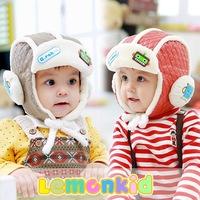 Free shipping 1 Piece Cute plus velvet ear Bomber Hats Children's Baby Cap, Cute lovey children's handmade hats
