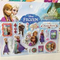 Wholesale - Free Shipping 50pcs/lot New Frozen Sticker 15*17cm 157g Coated Paper 3D PVC Cat Eye Frozen Elsa Anna Sponge Stickers
