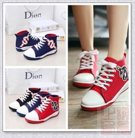 2014 Fashion Sneakers Women Canvas shoes driving shoes with Flat Backs Lace-Up Size CN35-40 Free Shipping On Sale 930