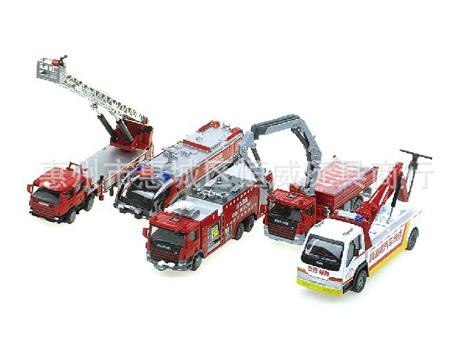 Hot Five-piece suit Kaidi Wei alloy 626,032 fire truck ladder fire water tankers take a car(China (Mainland))
