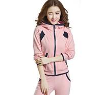 Candy colors comfortable women blusas femininas tracksuits clothing set,professional sport suit women brand track suit female