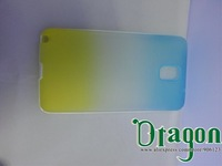 10pcs Clear Rainbow Colorful PC Frame Soft Silicone Rubber TPU Gel Shell case cover skin for Samsung Galaxy Note 3 III N9000