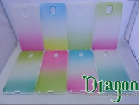 100pcs Clear Rainbow Colorful PC Frame Soft Silicone Rubber TPU Gel Shell case cover skin for Samsung Galaxy Note 3 III N9000