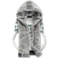 New 2014 Plus Size 3XL Winter Vest With Faux Fur Vests Men Brand Mens Winter Warm Coat  Waistcoat Couples Sleeveless Jacket