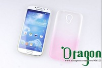 10pcs/lot Clear Rainbow Colorful PC Frame Soft Silicone Rubber TPU Gel Shell case cover skin For Samsung Galaxy S4 S IV i9500