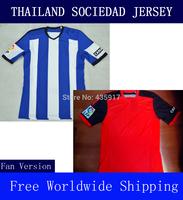 A+++ Real Sociedad 100% Thailand New Spain Blouse 14 15 Royal Society Thai 2014 2015 Soccer Jersey Futbol Sweatshirt Camisa