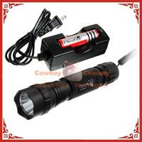 UltraFire 501B CREE T6 1000Lumens Outdoor 3 Mode  LED Flashlight & 18650 Battery & 18650 charger & Nylon Holster
