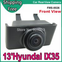 Free shipping - Front View Camera for 13' Hyundai IX35 Car Logo Camera with Wide Degree + Night Vision + Waterproof  FMS8026