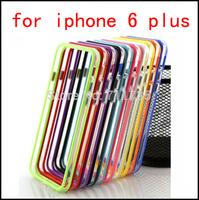 Bumper case for i phone 6 Plus,NEW Dual Color Plastic + Soft TPU Bumper case for  for iPhone 6 Plus 5.5 inch 100pcs/lot