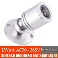 hot sell 2 years warranty High quality 1W Mini Led Wall Light  AC90~265V  all aluminium spotlight 2pcs/lot FreeShipping