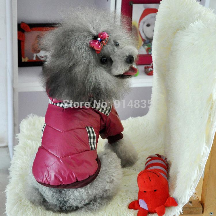 2014 o novo design Worm Roupa Pet para Brasão Dog Inverno Jaqueta com capuz grosso das Pequenas Caes 3 cores frete grátis(China (Mainland))