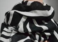Winter Fashion Women Brand new scarf black and white zebra print scarf shawls cotton scarf big trade