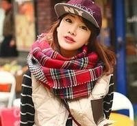 brand Classic fashion plaid scarf black and white houndstooth shawl women winter cashmere pashminashawl/wrap 200x60cm