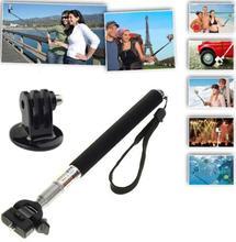 Go pro Telescopic Handheld Monopod with Tripod Mount Adapter for Sport Camera Gopro HD Hero 1 2 3 Rose Camera Photo Equipment
