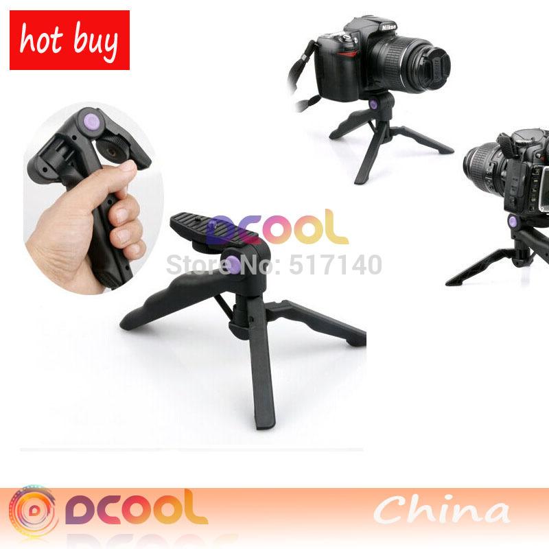Photo Studio Accessories 2in1 1 4 Portable Folding Mini Flexible Tripod Camera Stand For Canon Nikon