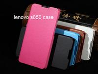 Lenovo S850 case, Brand New Leather Cover Case Skin Back Cover for Lenovo S850 case Free shipping