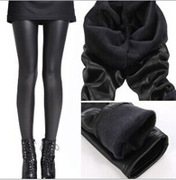 Free shipping leather double thick warm pants big yards female leggings wholesale  women legging